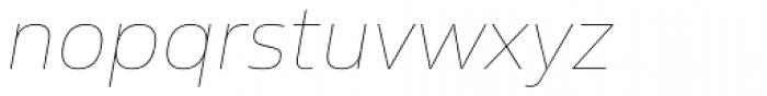 Sans Beam Body Ultra Light Italic Font LOWERCASE