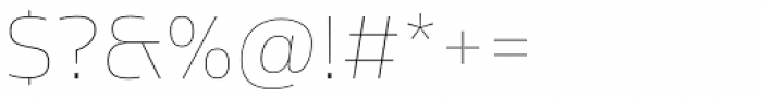 Sans Beam Body Ultra Light Font OTHER CHARS