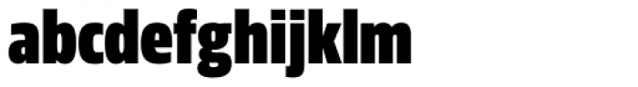Sans Beam Head Black Font LOWERCASE