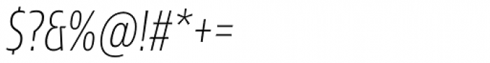 Sans Beam Head Extra Light Italic Font OTHER CHARS