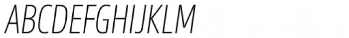 Sans Beam Head Extra Light Italic Font UPPERCASE
