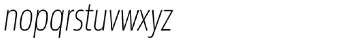 Sans Beam Head Extra Light Italic Font LOWERCASE