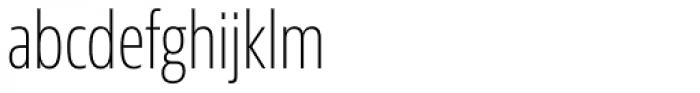 Sans Beam Head Extra Light Font LOWERCASE