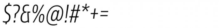 Sans Beam Head Light Italic Font OTHER CHARS