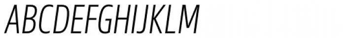 Sans Beam Head Light Italic Font UPPERCASE