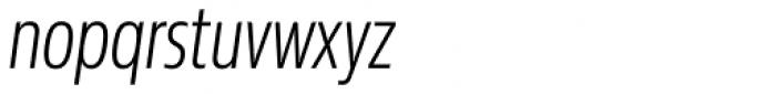 Sans Beam Head Light Italic Font LOWERCASE