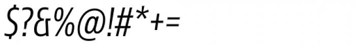 Sans Beam Head Semi Light Italic Font OTHER CHARS