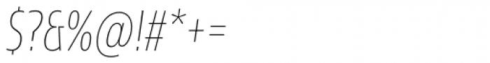 Sans Beam Head Thin Italic Font OTHER CHARS