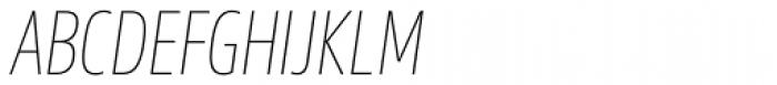 Sans Beam Head Thin Italic Font UPPERCASE