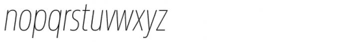 Sans Beam Head Thin Italic Font LOWERCASE