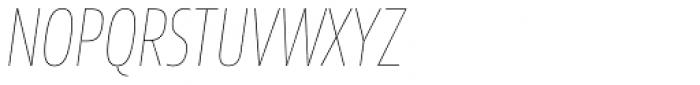 Sans Beam Head Ultra Light Italic Font UPPERCASE
