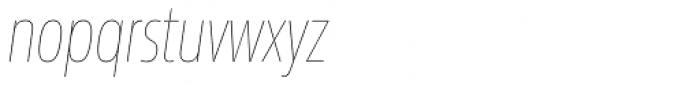 Sans Beam Head Ultra Light Italic Font LOWERCASE