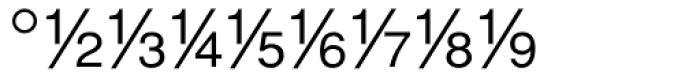 Sans Fractions Diagonal Plain Font OTHER CHARS