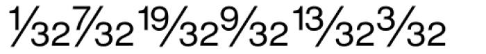 Sans Fractions Diagonal Plain Font UPPERCASE