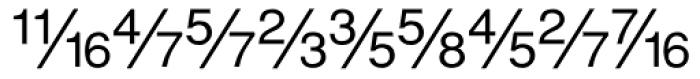 Sans Fractions Diagonal Plain Font LOWERCASE