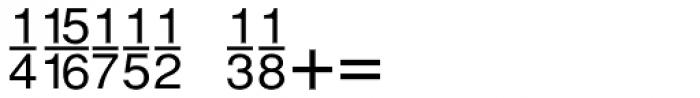 Sans Fractions Plain Font OTHER CHARS