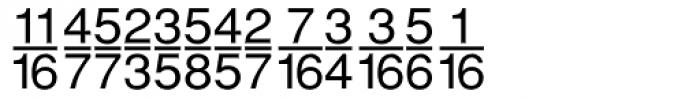 Sans Fractions Plain Font UPPERCASE