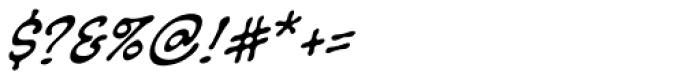 Sans Sanity BB Italic Font OTHER CHARS
