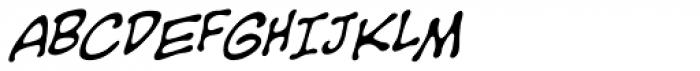 Sans Sanity BB Italic Font UPPERCASE