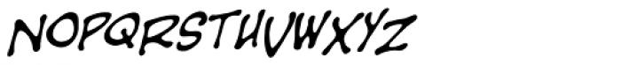 Sans Sanity BB Italic Font LOWERCASE