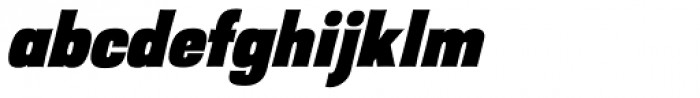 Sansational JF Pro Heavy Italic Font LOWERCASE