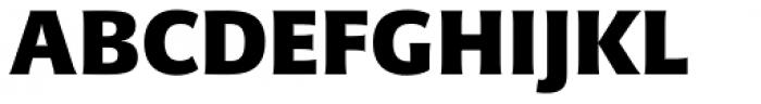 Sanserata Black Font UPPERCASE