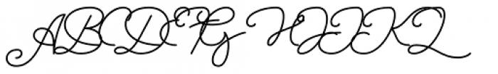 Sansterdam Light Script Font UPPERCASE