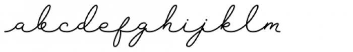 Sansterdam Light Script Font LOWERCASE