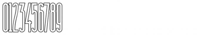 Sansterdam Medium Condensed Outline Font OTHER CHARS