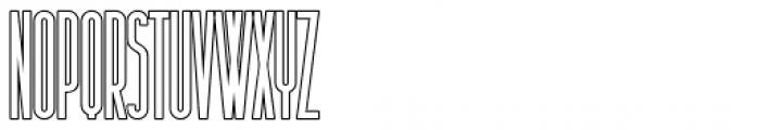 Sansterdam Medium Condensed Outline Font UPPERCASE
