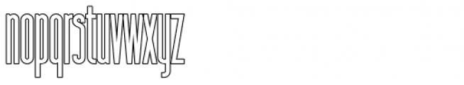 Sansterdam Medium Condensed Outline Font LOWERCASE