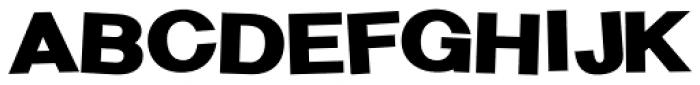 Sanstone 98 Fat Jumbled Font UPPERCASE