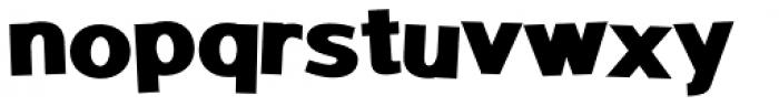 Sanstone 98 Fat Jumbled Font LOWERCASE