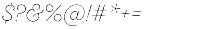Sant Elia Rough Ex Light Font OTHER CHARS