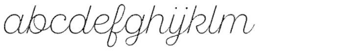 Sant Elia Rough Ex Light Font LOWERCASE