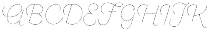Sant Elia Rough Line Two Font UPPERCASE