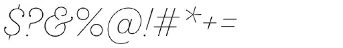 Sant Elia Script Ex Light Font OTHER CHARS