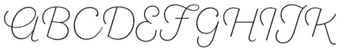 Sant Elia Script Ex Light Font UPPERCASE