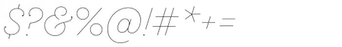 Sant Elia Script Line Font OTHER CHARS