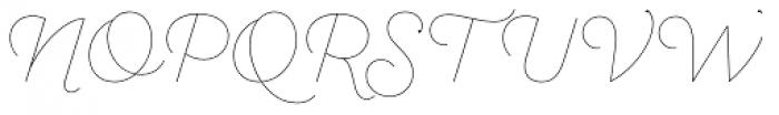 Sant Elia Script Line Font UPPERCASE