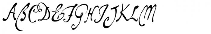 Santangeli Std Font UPPERCASE