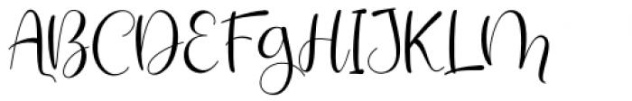 Santaria Script Regular Font UPPERCASE