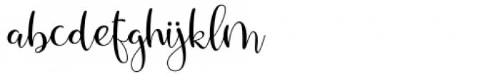 Santaria Script Regular Font LOWERCASE