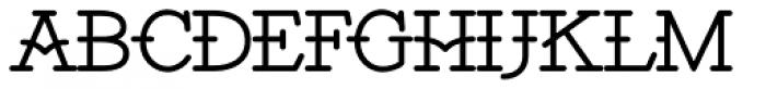 Santiago BTN Font UPPERCASE