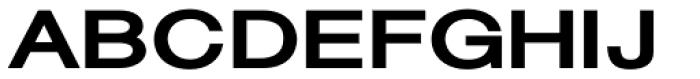 Sanzettica 6 Black Expd Font UPPERCASE
