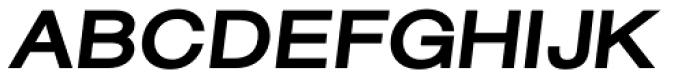Sanzettica 6 Black Italic Font UPPERCASE