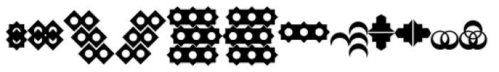Sanzibar Alphabats Font LOWERCASE