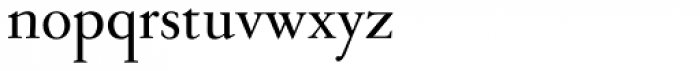 Sarabande Font LOWERCASE