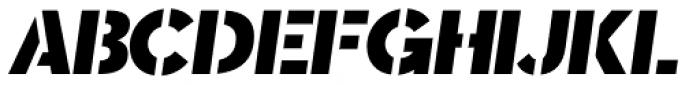 Sargento Gorila Italic Font UPPERCASE