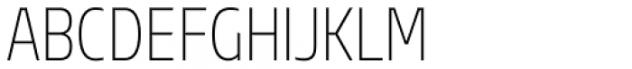 Sarun Pro Condensed Extra Light Font UPPERCASE